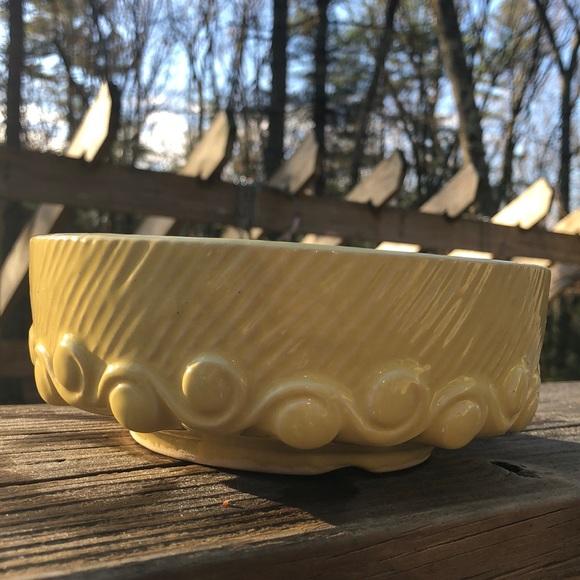 Vtg McCoy Wave Pattern Bulb Bowl